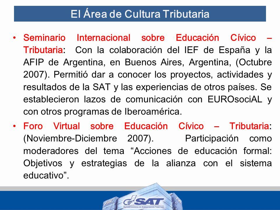 El Área de Cultura Tributaria