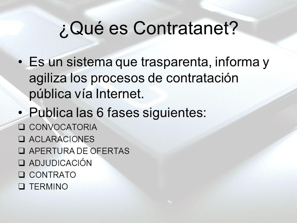 ¿Qué es Contratanet Es un sistema que trasparenta, informa y agiliza los procesos de contratación pública vía Internet.