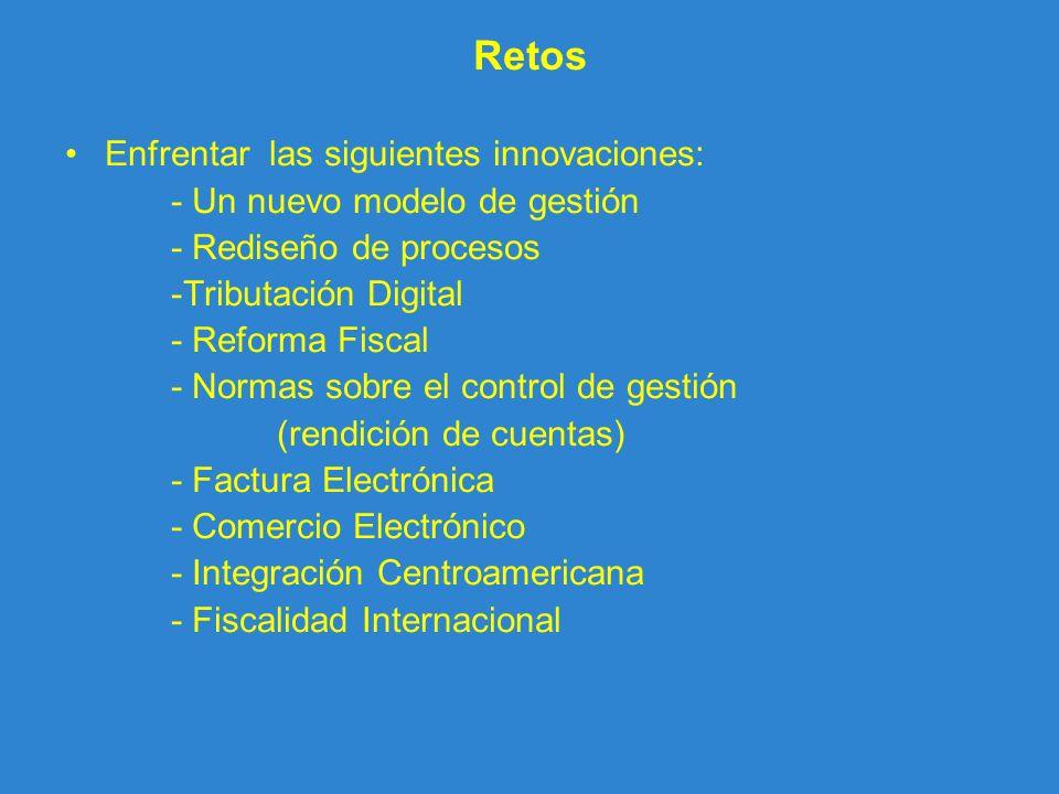 Retos Enfrentar las siguientes innovaciones: