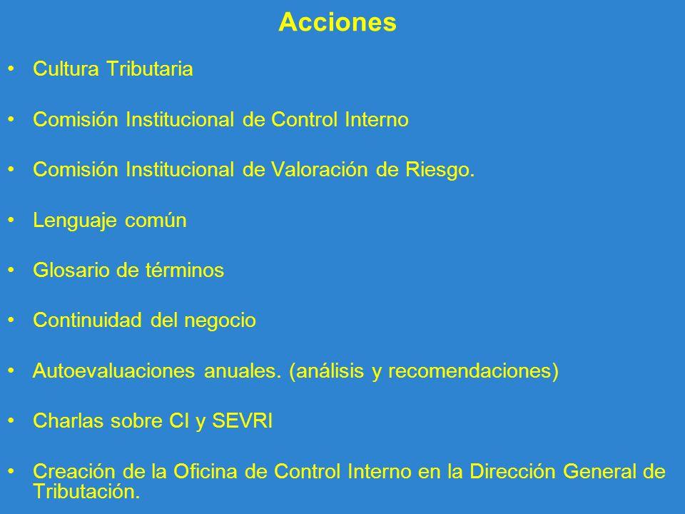 Acciones Cultura Tributaria Comisión Institucional de Control Interno