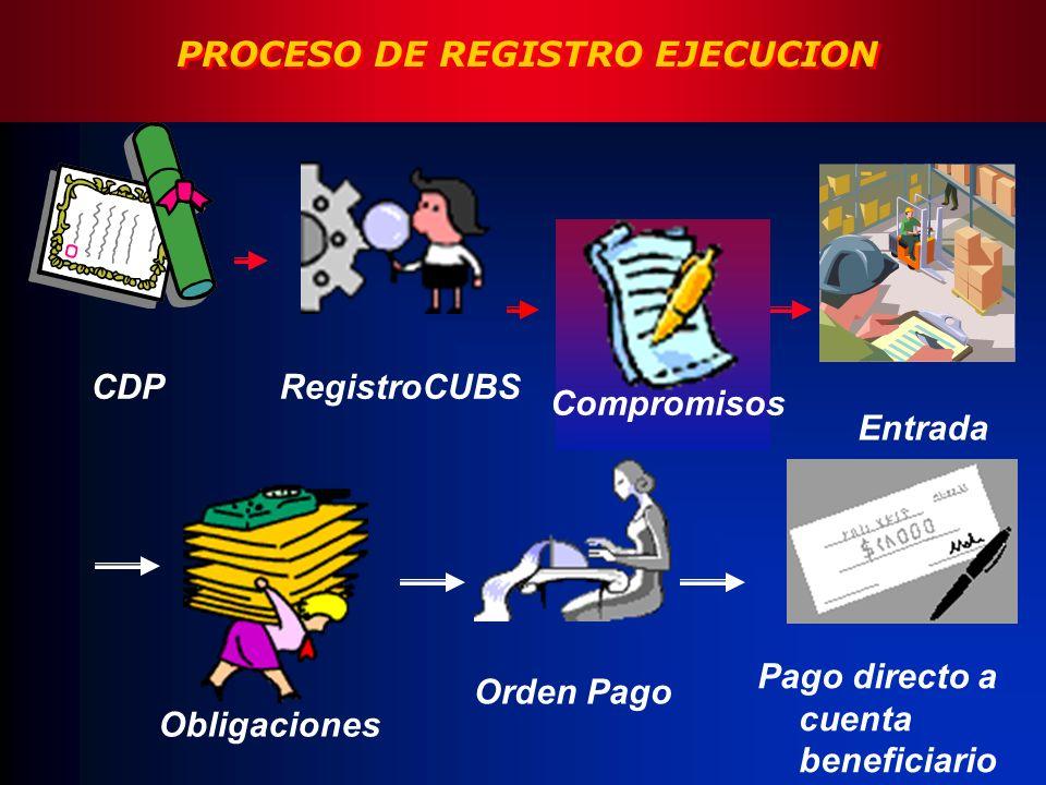 PROCESO DE REGISTRO EJECUCION