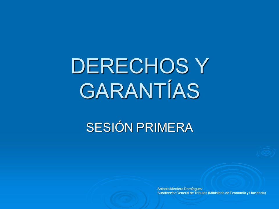 DERECHOS Y GARANTÍAS SESIÓN PRIMERA Antonio Montero Domínguez