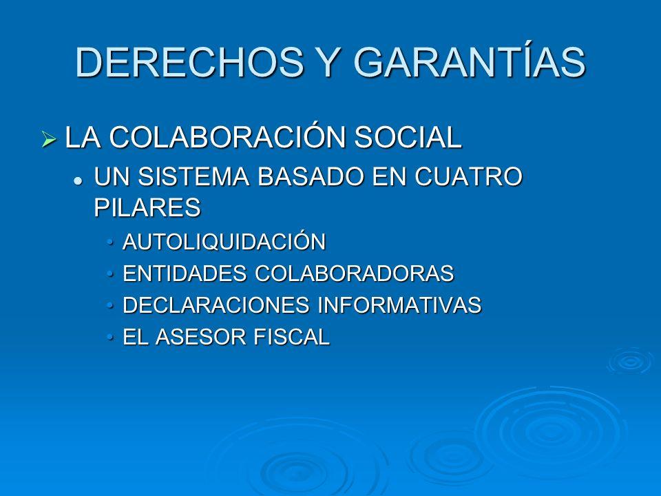 DERECHOS Y GARANTÍAS LA COLABORACIÓN SOCIAL