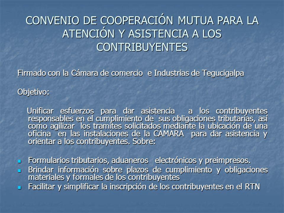 CONVENIO DE COOPERACIÓN MUTUA PARA LA ATENCIÓN Y ASISTENCIA A LOS CONTRIBUYENTES