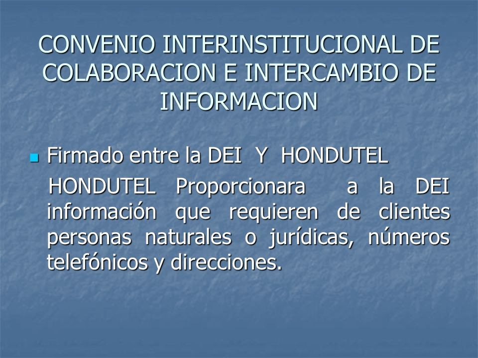 CONVENIO INTERINSTITUCIONAL DE COLABORACION E INTERCAMBIO DE INFORMACION