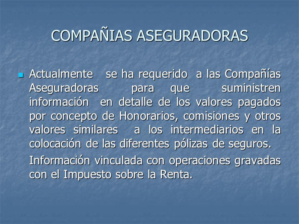 COMPAÑIAS ASEGURADORAS