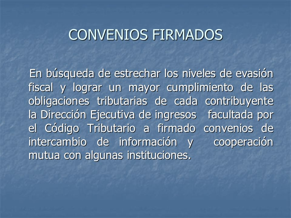 CONVENIOS FIRMADOS