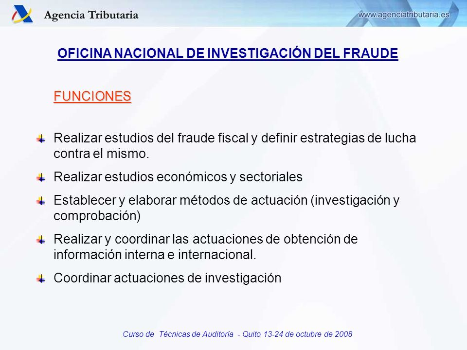 OFICINA NACIONAL DE INVESTIGACIÓN DEL FRAUDE