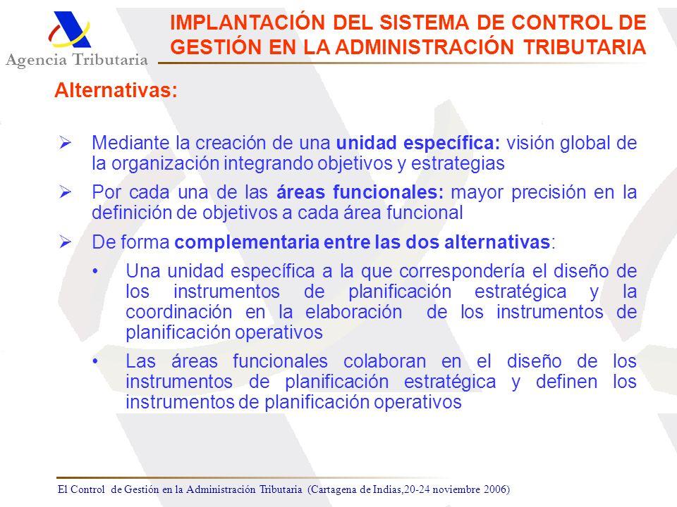 IMPLANTACIÓN DEL SISTEMA DE CONTROL DE GESTIÓN EN LA ADMINISTRACIÓN TRIBUTARIA
