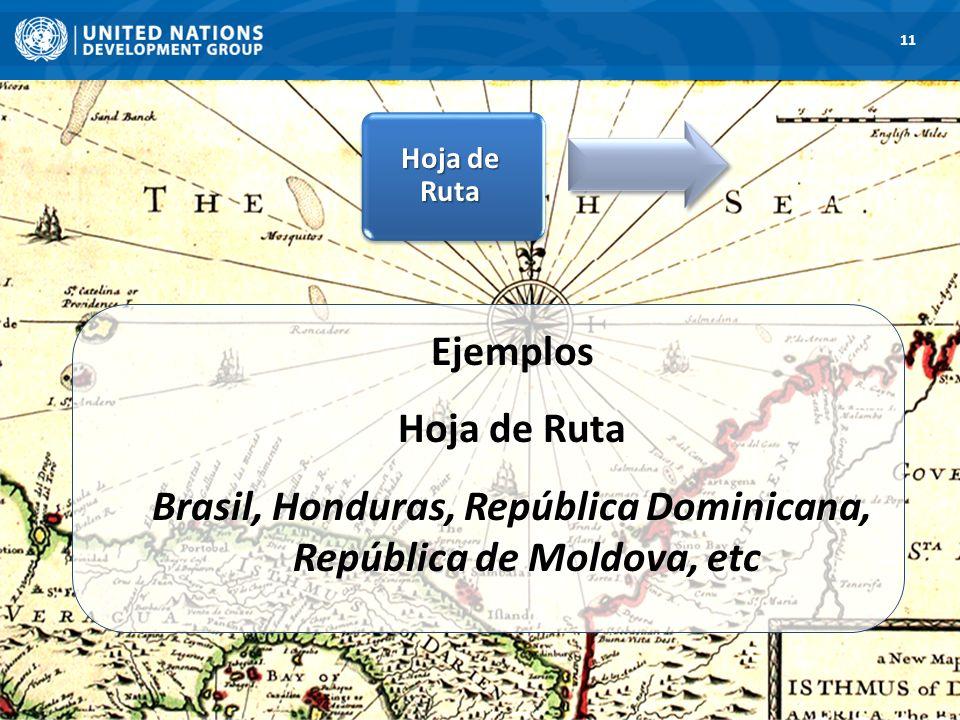 11 Hoja de Ruta. Ejemplos Hoja de Ruta Brasil, Honduras, República Dominicana, República de Moldova, etc