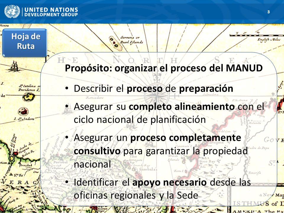 Propósito: organizar el proceso del MANUD