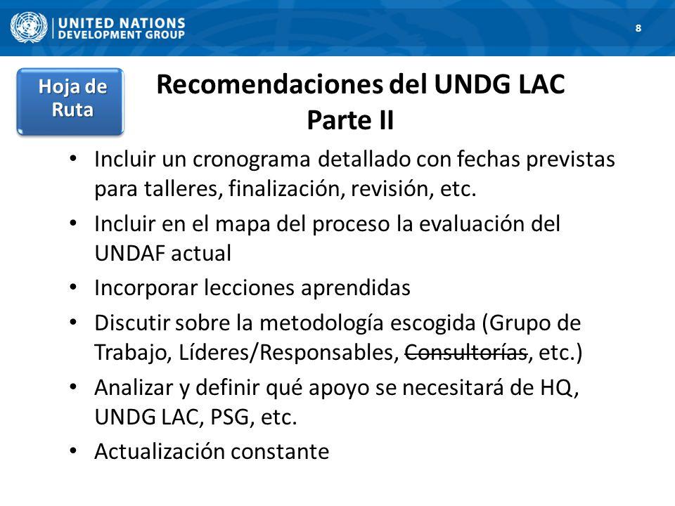 Recomendaciones del UNDG LAC Parte II