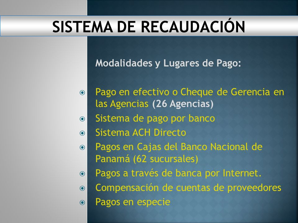 SISTEMA DE RECAUDACIÓN