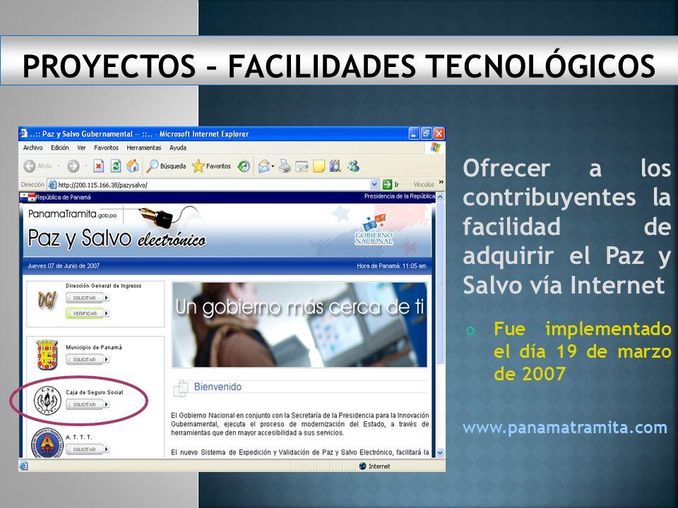 FACILIDADES TECNOLÓGICAS