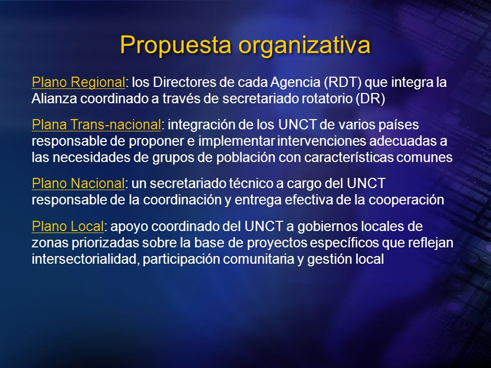 Propuesta organizativa