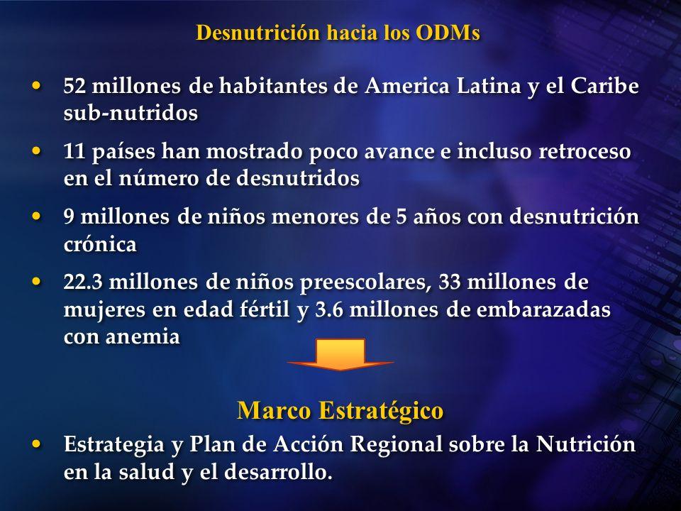 Desnutrición hacia los ODMs