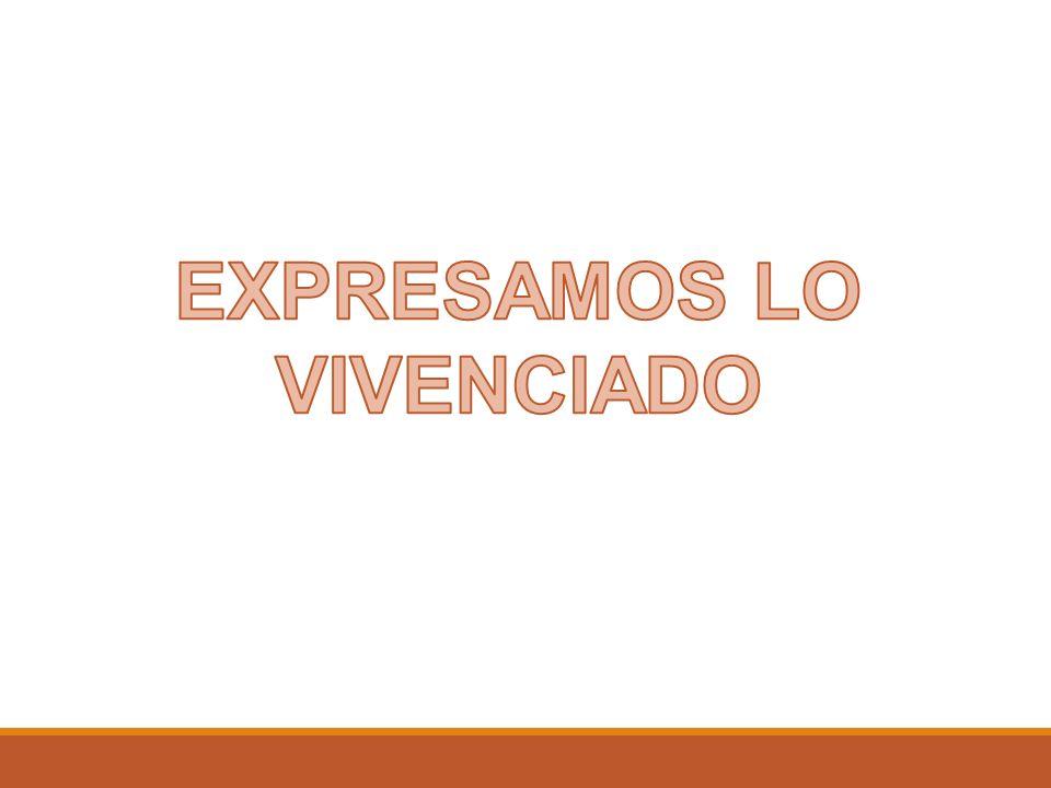 EXPRESAMOS LO VIVENCIADO