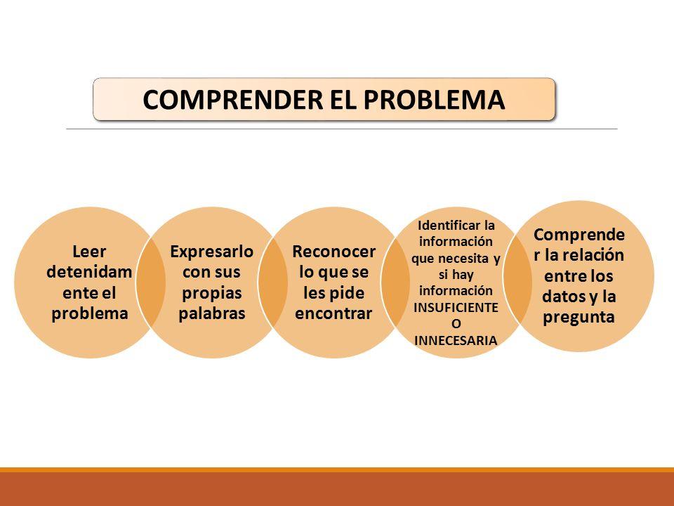 COMPRENDER EL PROBLEMA