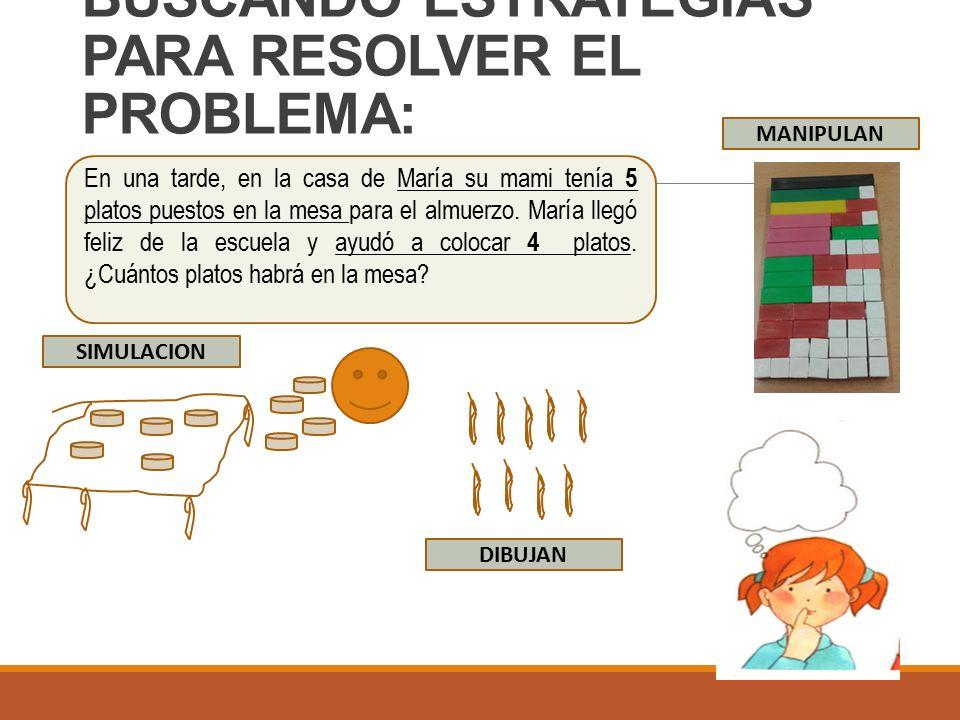 BUSCANDO ESTRATEGIAS PARA RESOLVER EL PROBLEMA: