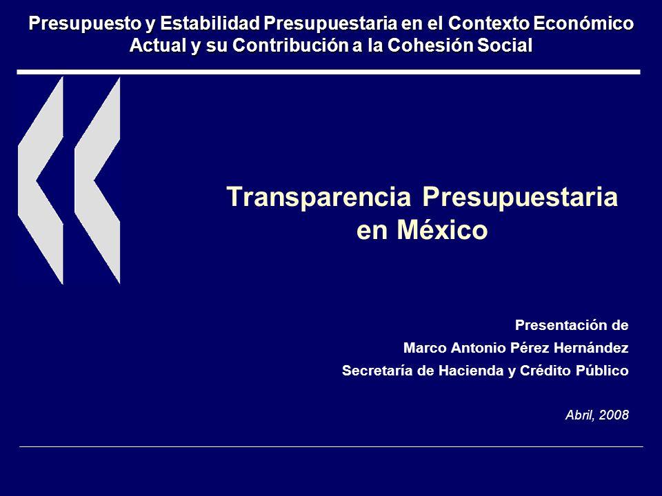 Transparencia Presupuestaria en México