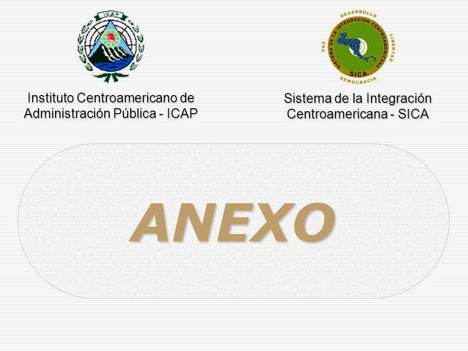 ANEXO Instituto Centroamericano de Sistema de la Integración