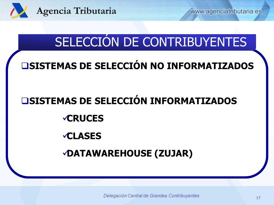 SELECCIÓN DE CONTRIBUYENTES