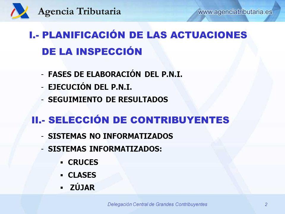 I.- PLANIFICACIÓN DE LAS ACTUACIONES DE LA INSPECCIÓN
