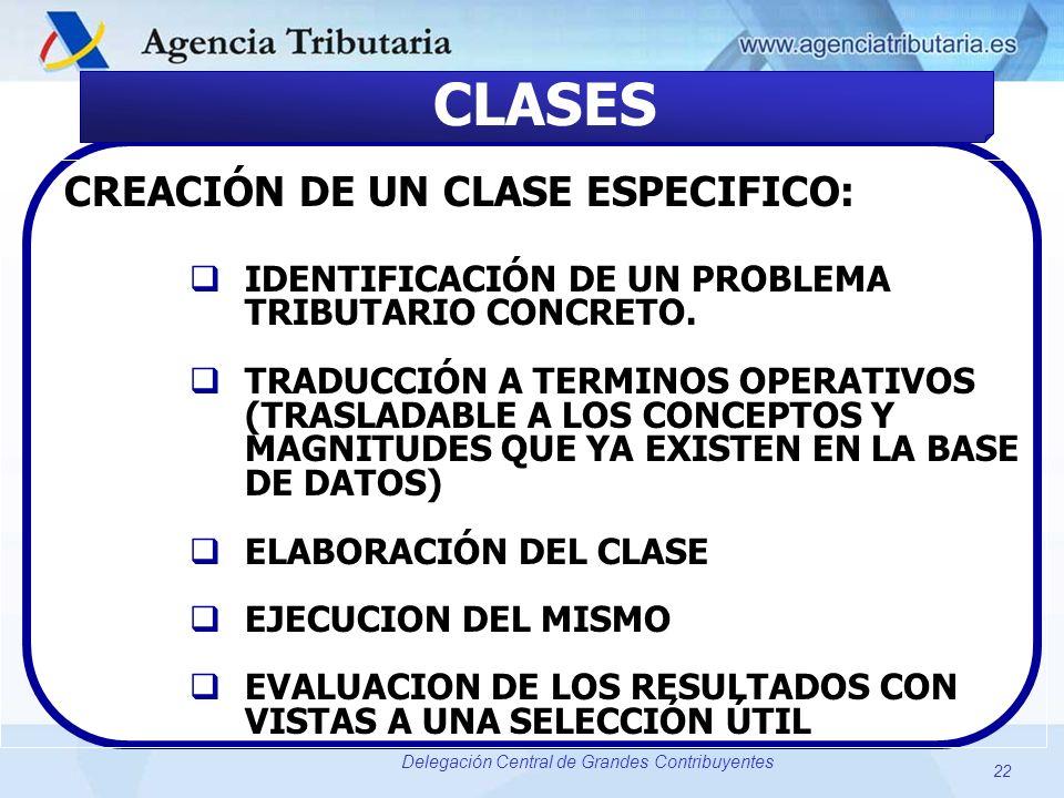 CLASES CREACIÓN DE UN CLASE ESPECIFICO: