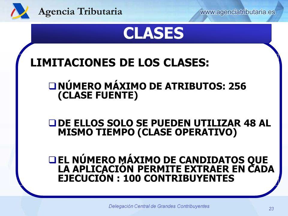 CLASES LIMITACIONES DE LOS CLASES: