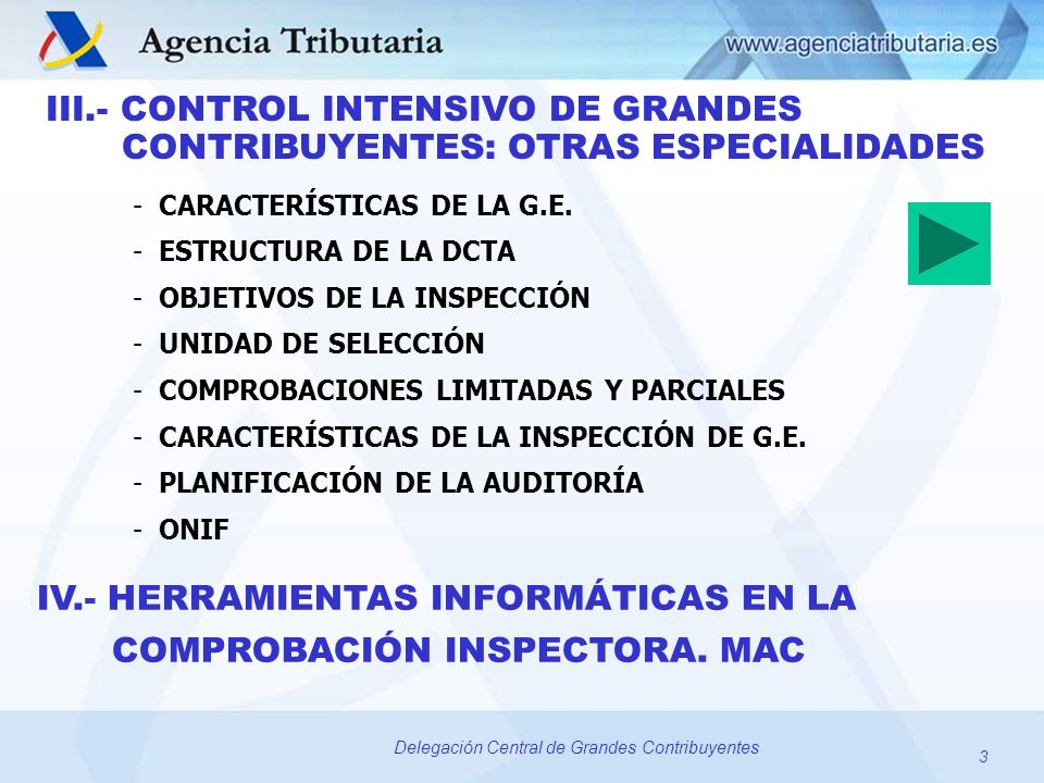 IV.- HERRAMIENTAS INFORMÁTICAS EN LA COMPROBACIÓN INSPECTORA. MAC
