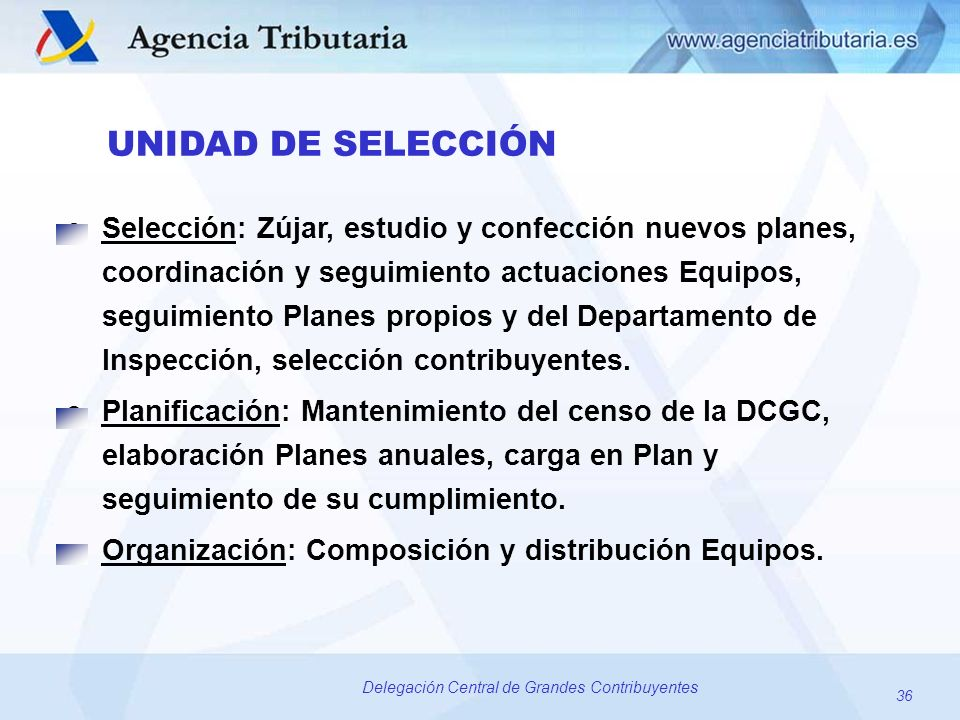 Organización: Composición y distribución Equipos.