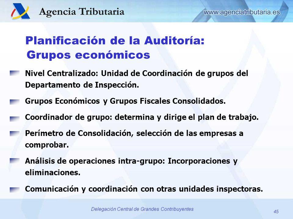 Grupos económicos Planificación de la Auditoría: