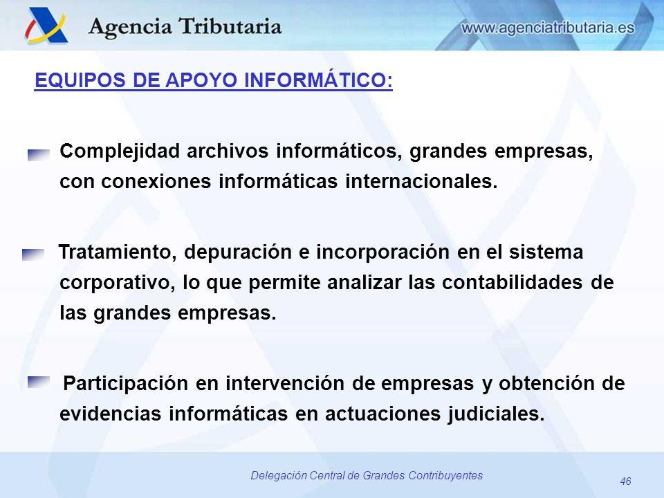 EQUIPOS DE APOYO INFORMÁTICO: