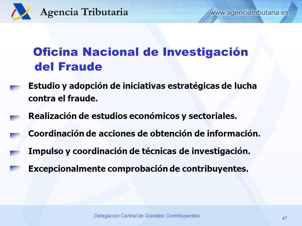 del Fraude Oficina Nacional de Investigación
