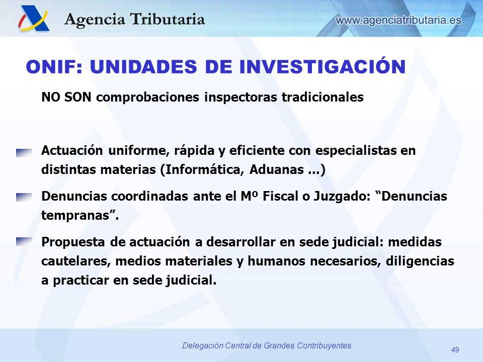 ONIF: UNIDADES DE INVESTIGACIÓN