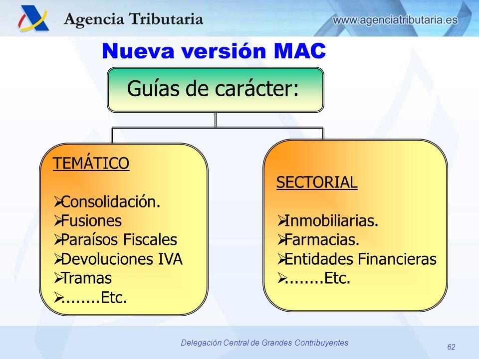 Nueva versión MAC Guías de carácter: SECTORIAL Inmobiliarias.