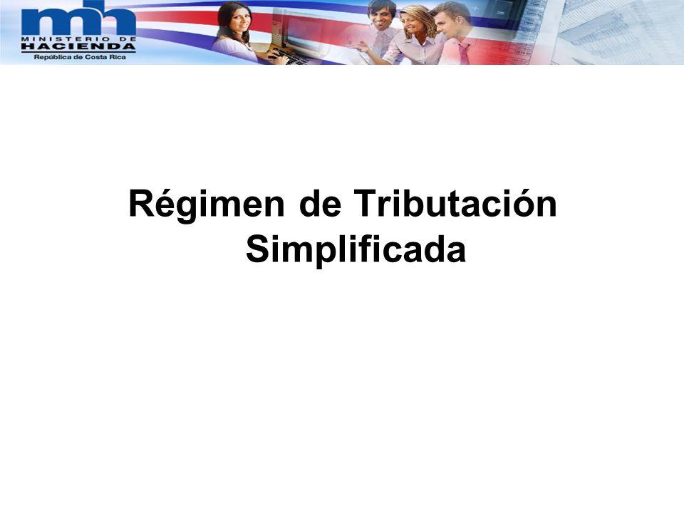 Régimen de Tributación Simplificada