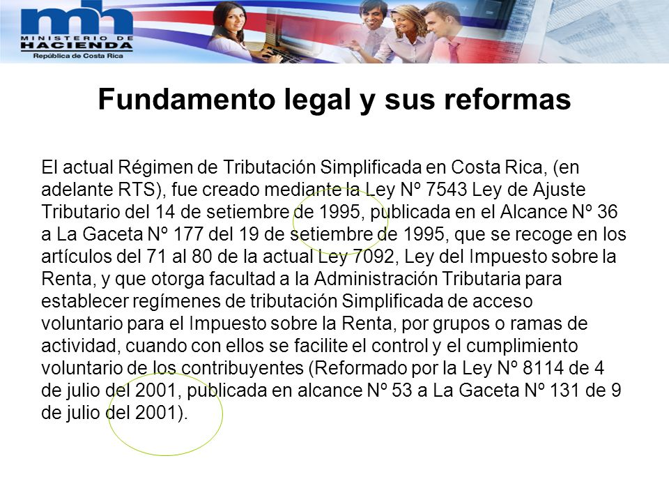 Fundamento legal y sus reformas