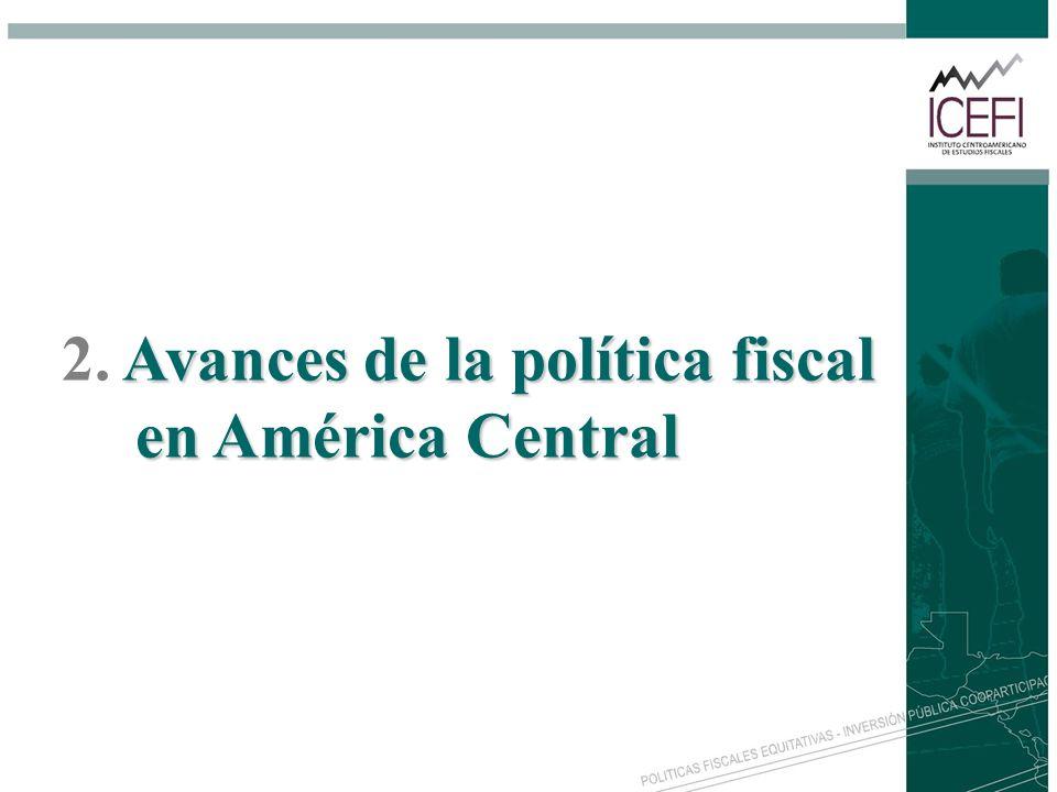 2. Avances de la política fiscal en América Central