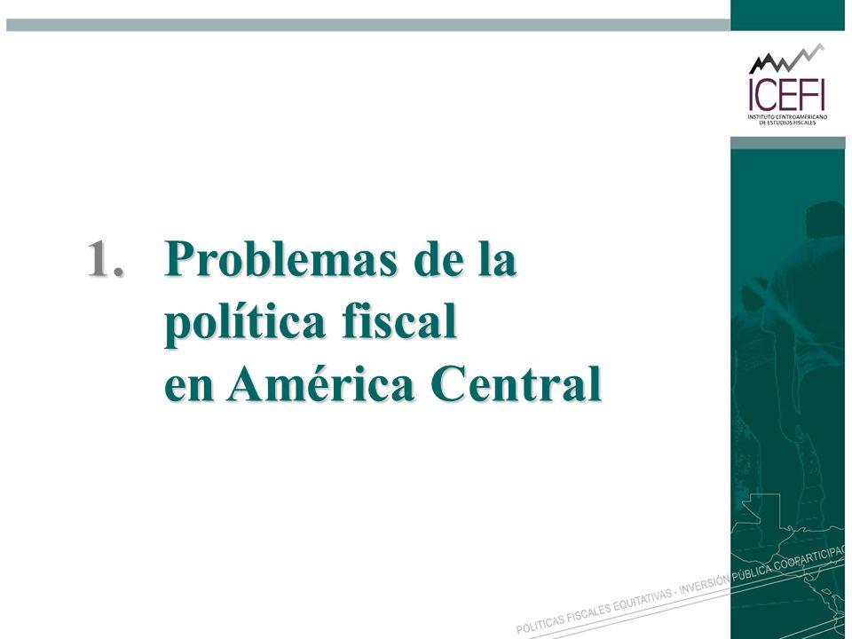 Problemas de la política fiscal en América Central