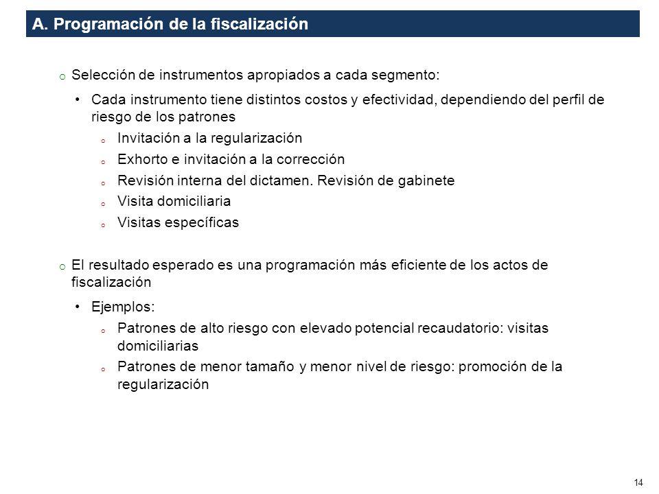 A. Programación de la fiscalización