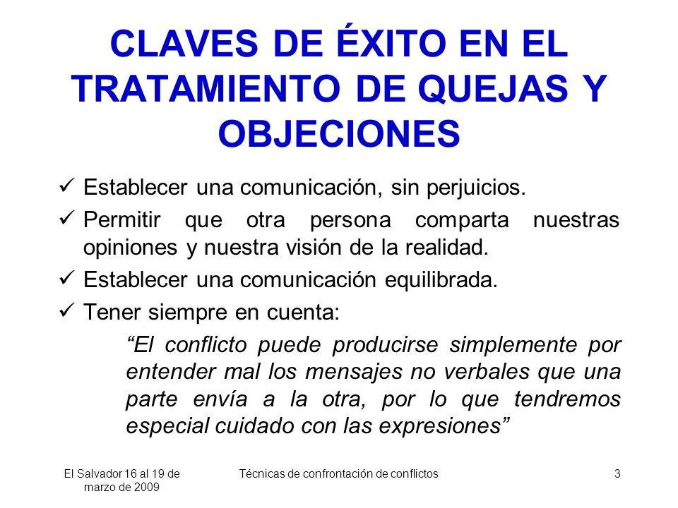 CLAVES DE ÉXITO EN EL TRATAMIENTO DE QUEJAS Y OBJECIONES