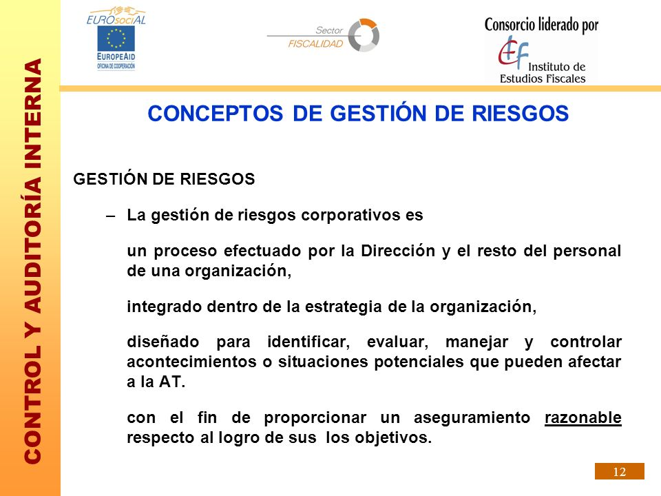 CONCEPTOS DE GESTIÓN DE RIESGOS