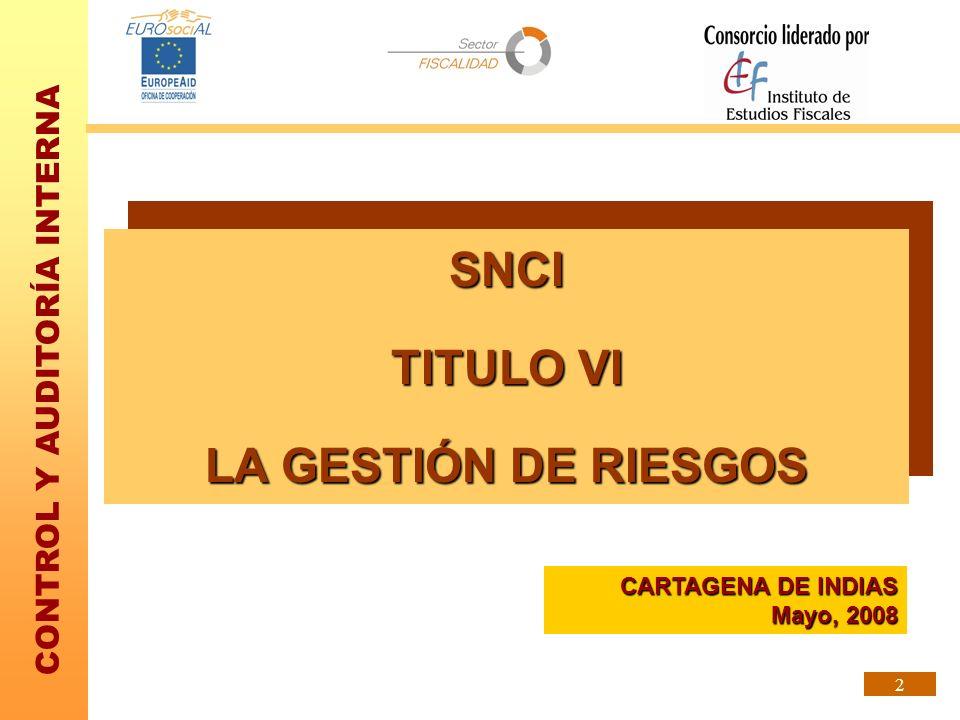SNCI TITULO VI LA GESTIÓN DE RIESGOS