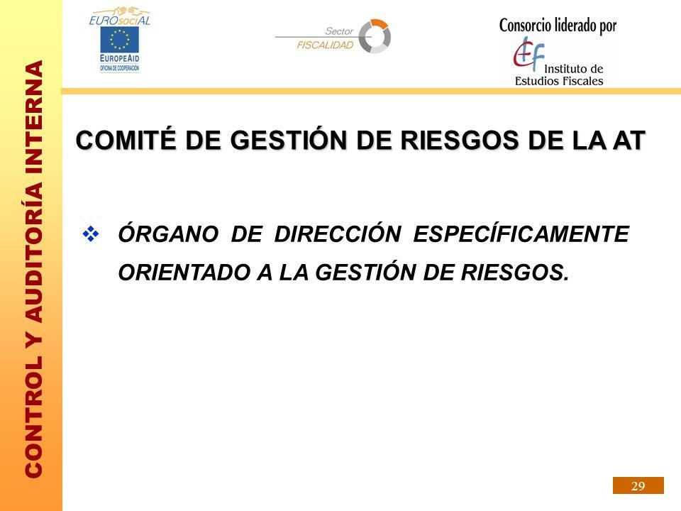 COMITÉ DE GESTIÓN DE RIESGOS DE LA AT