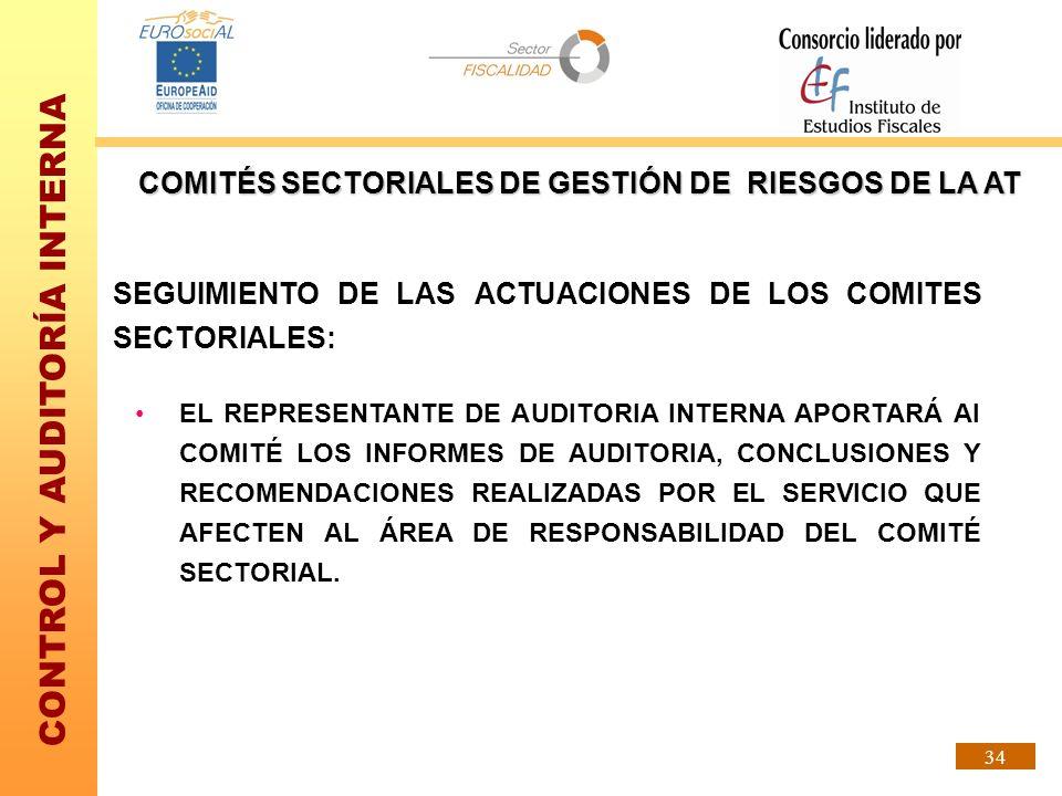 COMITÉS SECTORIALES DE GESTIÓN DE RIESGOS DE LA AT