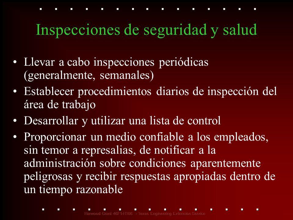 Inspecciones de seguridad y salud