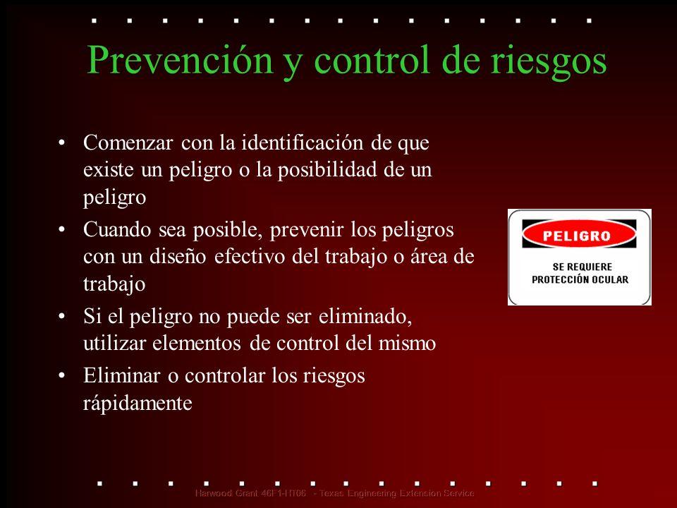 Prevención y control de riesgos