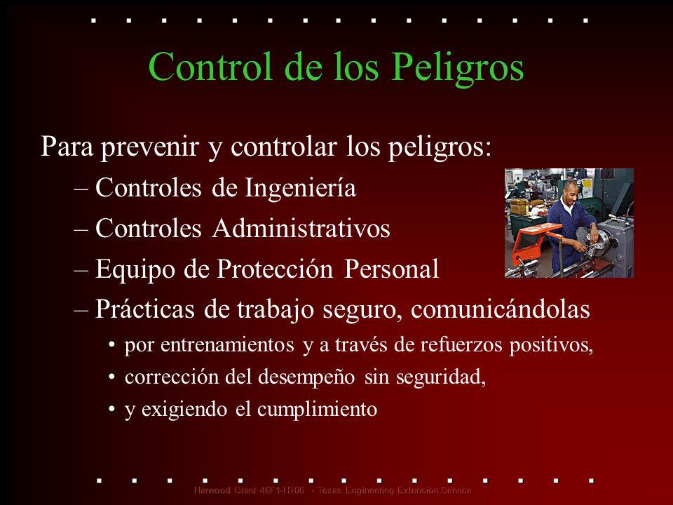 Control de los Peligros