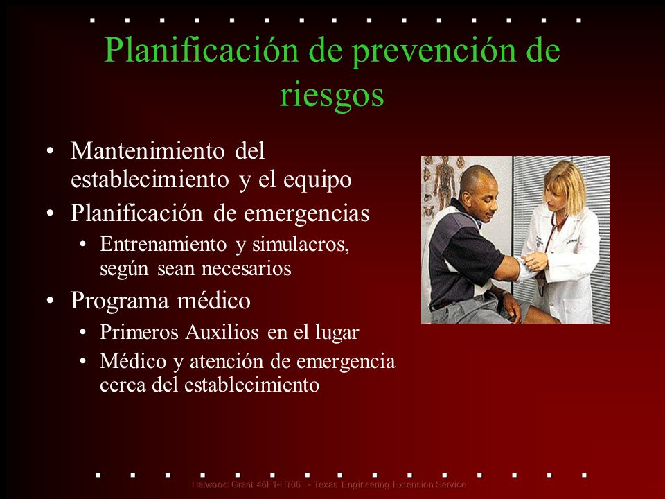 Planificación de prevención de riesgos